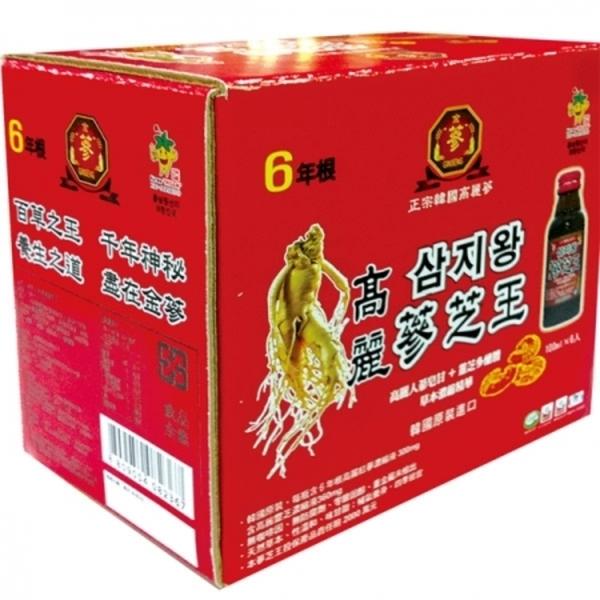 金蔘-6年根高麗蔘芝王100ml*6瓶/盒