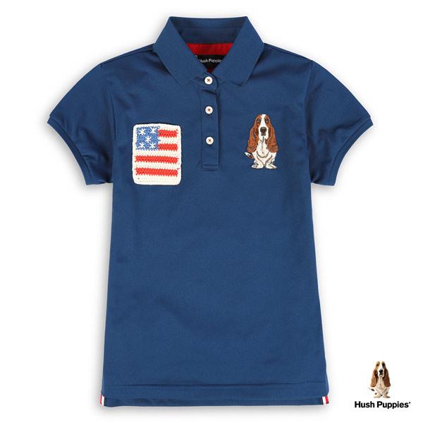 Hush Puppies 吸濕快乾POLO衫 女裝美國造型口袋刺繡狗POLO衫