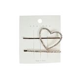 【貝麗瑪丹】水鑽髮夾 愛心/樹葉 女生 髮飾 韓風 韓系 韓系髮夾 水鑽 髮夾