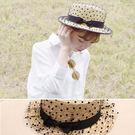 草帽 黑色滾邊 點點 遮陽帽 沙灘 草帽【NC011】 icoca  04/27