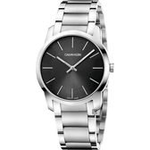 Calvin Klein CK City 極簡都會手錶-黑x銀/37mm K2G22143