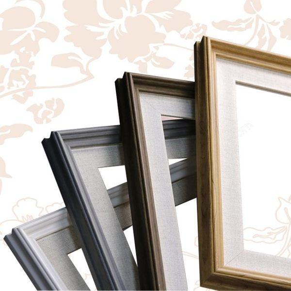 歐式簡約油畫外框大掛墻連體組合數字印相框畫框裝裱制作 古梵希