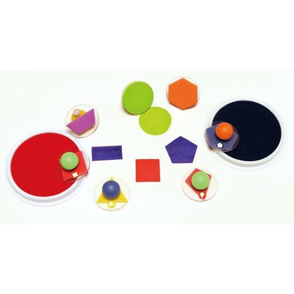 幾何形狀大印章 兒童幼兒教具教學道具彩繪著色畫圖用具親子同樂綜合活動藝術與人文
