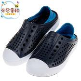 《布布童鞋》SKECHERS深灰藍色兒童洞洞休閒鞋(17~23.5公分) [ N9C95LD ]