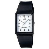 【CASIO】復古文青方形超薄經典指針錶-數字白面(MQ-27-7B)