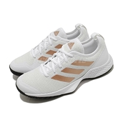 adidas 網球鞋 Court Control W 白 黑 金 女鞋 輕量網布鞋面 運動鞋 【ACS】 FX3444