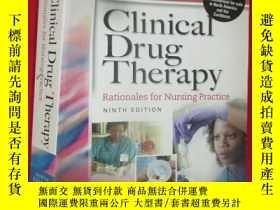 二手書博民逛書店Clinical罕見Drug Therapy, Internat