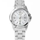 CASIO卡西歐小錶框銀面腕錶 不鏽鋼錶帶【NEC114】
