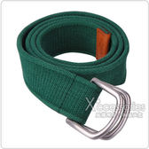 POLO 經典戰馬壓紋棉質腰帶(M/L/綠)