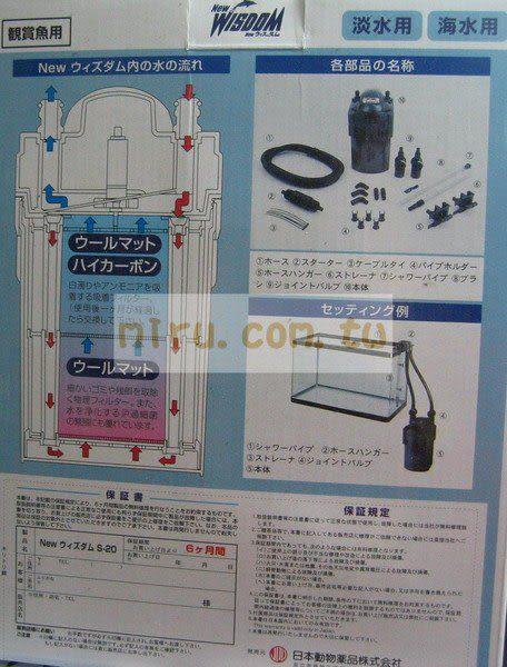 【西高地水族坊】JPD日本動物製藥 小海豚外置過濾器S-20