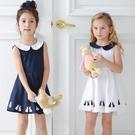 女童無袖洋裝 母女親子姊妹裝 裙子雙色款 數數看 (兒童/小孩/小朋友/幼童/小童/孩童/寶寶)