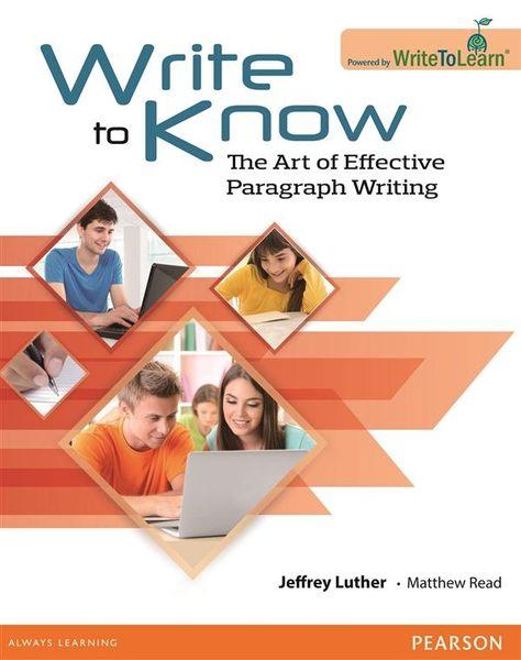 (二手書)Write to Know: The Art of Effective Paragraph Writing (Online Wr..