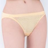 思薇爾-晨曦系列M-XL蕾絲低腰三角內褲(霞金色)