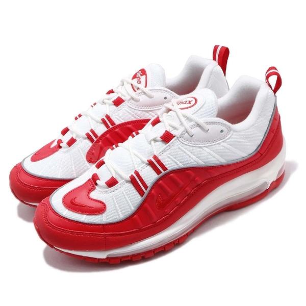 【六折特賣】Nike Air Max 98 復古慢跑鞋 紅 白 大氣墊 男鞋 復刻 運動鞋 【PUMP306】 640744-602
