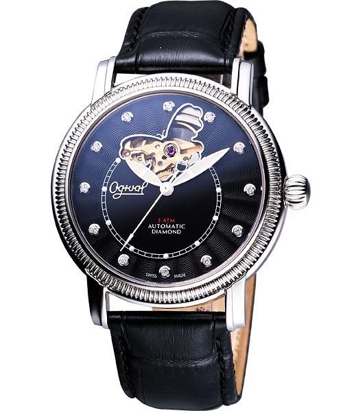 Ogival 愛其華 《蝶之舞》真鑽心跳機械腕錶358AG-1179