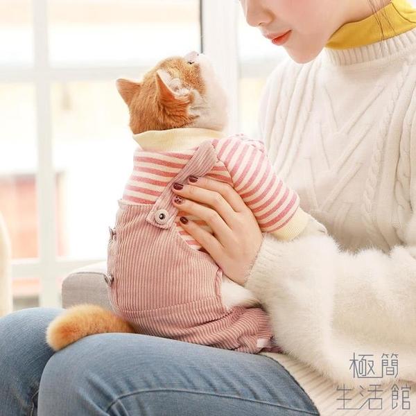 貓咪衣服寵物幼貓可愛四腳保暖可愛秋冬裝【極簡生活】