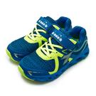 LIKA夢 DIADORA 迪亞多那 22cm-24.5cm 輕量3E寬楦慢跑鞋 競速飆風系列 藍螢綠 7876 大童