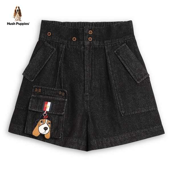 Hush Puppies 褲裙 女裝可拆式造型口袋後腰鬆緊牛仔褲裙