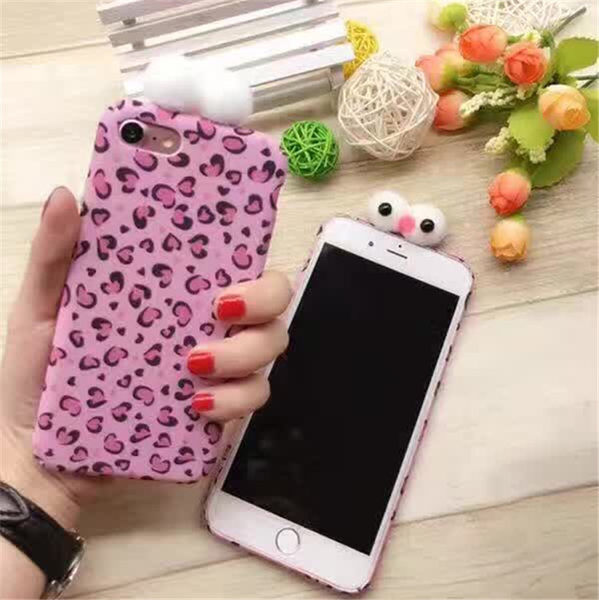 King*Shop~韓國 粉紅豹iphone7 plus創意手工全包蘋果六6s手機殼4.7全包防摔