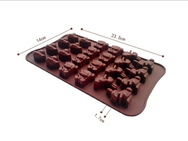 【發現。好貨】迷你卡通小動物小黃鴨熊熊小兔子巧克力模 冰格模具 製冰盒 肥皂模具
