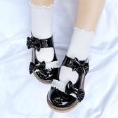 lolita鞋櫃櫃手作原創Lolita手作鞋百搭大頭鞋蝴蝶結鬆糕學生鞋 衣間迷你屋
