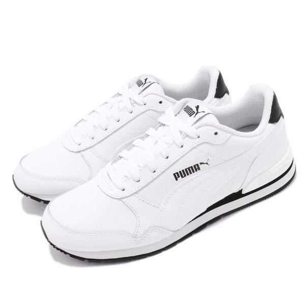 Puma 休閒慢跑鞋 ST Runner V2 Full L 黑 白 皮革鞋面 女鞋 運動鞋【PUMP306】 36527701