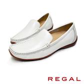 【REGAL】素面皮革休閒女鞋 白色(P529-WT)