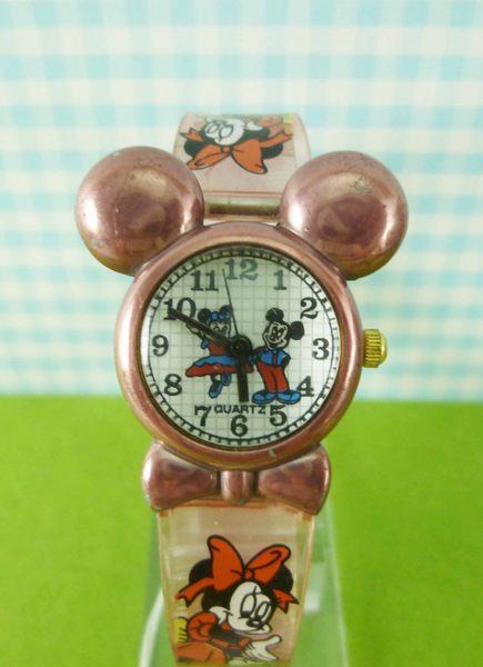 【震撼精品百貨】米奇/米妮 Micky Mouse~造型手錶-米奇大頭圖案-亮粉