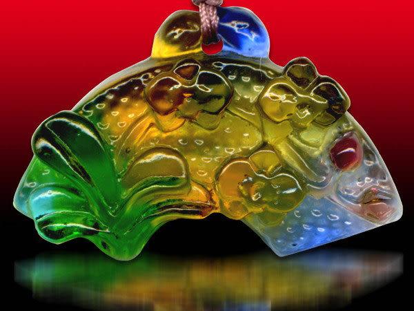 鹿港窯~居家開運水晶琉璃項鍊~蝴蝶蘭 附精美包裝◆免運費送到家◆