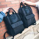 全館88折特惠-潮牌後背背包男士時尚女正韓潮新品個性百搭防雨旅行電腦包後背包