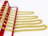 鍍越南沙金項鍊男女士24K仿黃金圓珠項鍊龍頭大金鍊子粗久不掉色