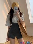 牛仔短褲 夏季黑色牛仔短褲女2021新款歐美健身熱褲小個子超高腰顯瘦潮 寶貝計畫 618狂歡