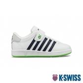 【超取】K-SWISS Classic VN VLC舒適運動鞋-童-白/藍/綠