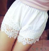 蕾絲鏤空花邊短褲女三分安全褲打底褲