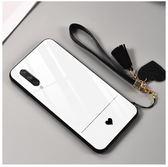 小米 A3 手機殼 愛心 情侶款 簡約 鋼化玻璃殼 全包 軟邊 硬殼  保護套