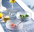甜品碗 日式金邊玻璃碗平缸簡約創意甜品碗水果沙拉碗好看的碗【快速出貨八折下殺】