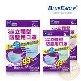 【醫碩科技】藍鷹牌NP-3DNP台灣製立體型成人防塵口罩/口罩/立體口罩 超高防塵率 藍綠粉 5入/包