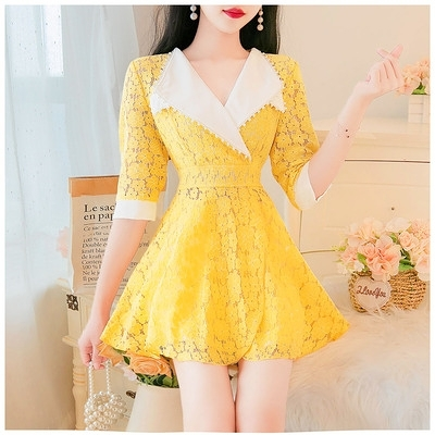 洋裝~3793#兩件套氣質鏤空設計女TCF1-09胖妞衣櫥