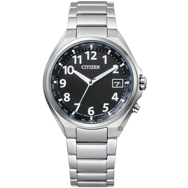CITIZEN 星辰 限量 鈦金屬光動能電波萬年曆手錶(CB1120-50F)