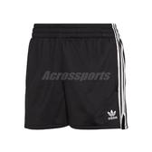 adidas 短褲 Originals 3 Stripes 黑 白 女款 三葉草 三條線 運動褲 【PUMP306】 CY4763
