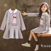 中大童女童秋裝長袖洋裝2018新款韓版套裝潮衣兒童裙子時髦洋氣公主