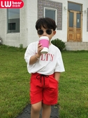 朗維熊兒童褲子2019新款韓版男童寬鬆短褲夏季運動帥氣夏季男孩潮
