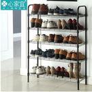 小熊居家家用五層鞋架簡易多功能碳鋼鞋架超...