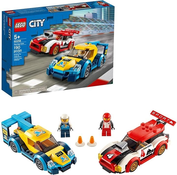 LEGO 樂高 City Racing Cars 60256 Fun Buildable for Kids New 2020(190 Pieces)