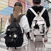 後背包女書包韓版原宿ulzzang男時尚潮流高中學生雙肩包女大容量電腦背包YYJ