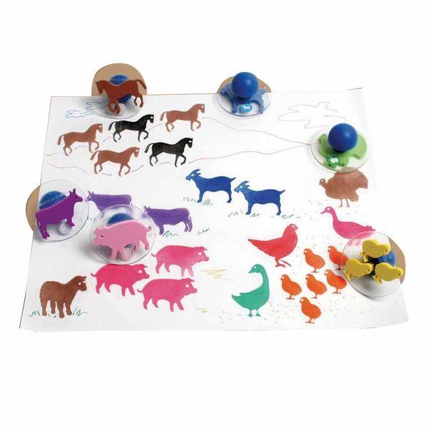 熱鬧農場大印章 兒童幼兒教具教學道具彩繪著色畫圖用具親子同樂綜合活動藝術與人文