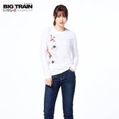 Big Train 流水楓金魚長袖女款-白-Z2513080(領劵再折)
