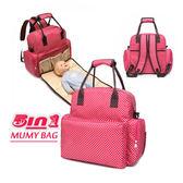 《J 精選》超大容量5用多功能媽咪包/母嬰背包/尿布墊功能包