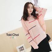 東京著衣-線條混織圓領毛衣(6024142)