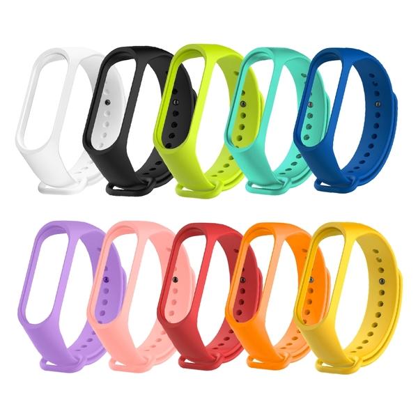 【3期零利率】全新 MI-WB01 小米手環5/6彩色錶帶 通用款 柔軟材質 多種顏色 方便安裝 防水透氣
